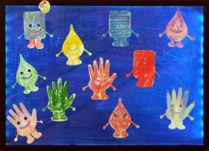 Символы праздника, выполненные детьми