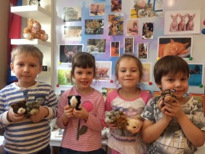 ребятишки в мини музее